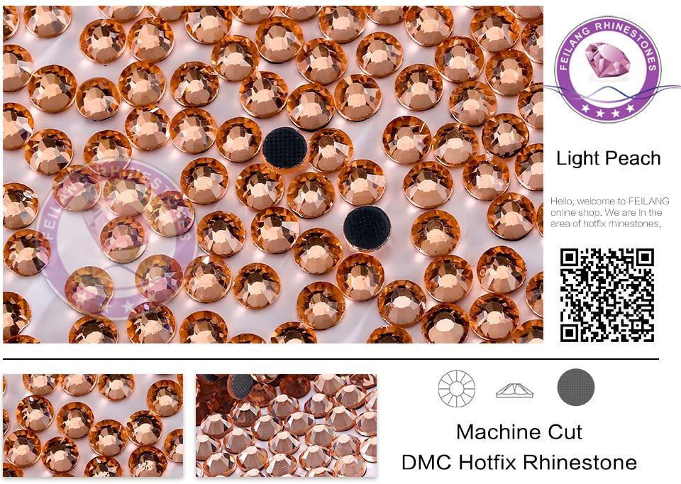 DMC Hotfix Crystals Rhinestone SS6-SS20 Light Peach 10 Gross bag CPAM Free  Brides Stones Garment Accessories Wholesale e1a193f9b226