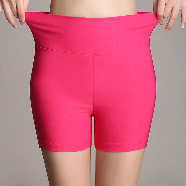 Summer new arrival fashion candy color stretch ladies high waist shorts 18 colors skinny thin plus size women shorts 2017