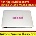 100% НОВЫЕ Оригинальные Полный ЖК Ассамблея Замена для MacBook Pro Retina 15 A1398 (Конец 2013 Г., середине 2014) Ремонт СВЕТОДИОДНЫЙ Экран
