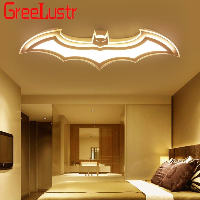 Ultra thin Batman Led Ceiling Lights Modern lustre plafond Dimming Acrylic Ceiling lamp Boys Baby Children Kids Room Light