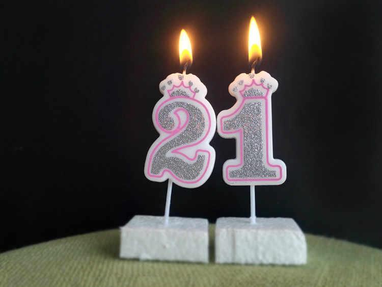 الذهب بريق النصي الوردي عدد 0-9 كعكة القبعات العالية الاطفال حفلة عيد ميلاد الحسنات شخصية كعكة عيد ميلاد سعيد زينة الفضة