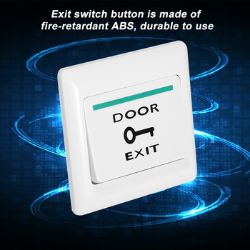 Elektroniczny zamek do drzwi nie COM blokada czujnik System kontroli dostępu do alarmu awaryjnego przełącznik spustowy drzwi ze stali nierdzewnej przycisk wyjścia tanie i dobre opinie KKMOON electronic door lock Nie Bezpieczny Brak
