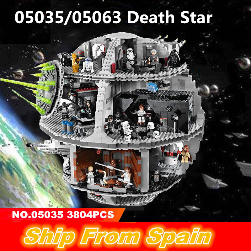 Ship from Spain 75212 05035 Star Series Wars super star UCS death Building Blocks Destroyer Star