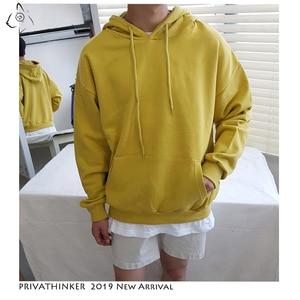 Image 3 - Privathinke 2020 Autumn Warm Men Fleece Hoodies 9 Colors Male Streetwear Thicken Hooded Sweatshirts Casual Loose Hoodies 5XL