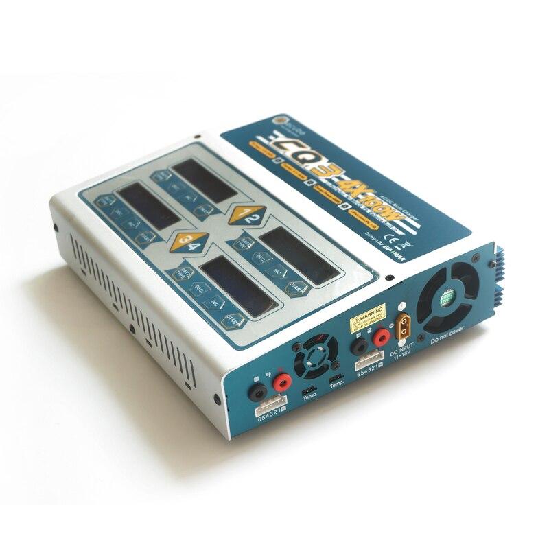 Nuovo EV-Peak CQ3 RC lipo balance charger AC/DC 4*100 W per NiCd/NiMH LiPo/LiLo/LiFe batteria caricatore intelligente veloce ed efficiente