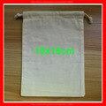 (100 pçs/lote) tamanho 10x15 cm eco orgânica natural pequeno saco de cordão de algodão com o logotipo