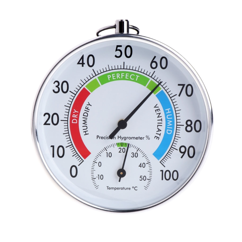 Temperature and Humidity Analog Indicator Indoor Outdoor Thermometer Hygrometer L15