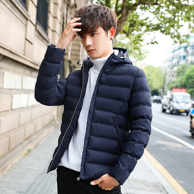 Men's New Cotton Coat Winter Hooded Korean Version Of The Feather Cotton Jacket Jacket Thick Winter Warm Cotton Jacket free shipping 2016 autumn and winter explosion models men korean version of slim long warm hooded coat