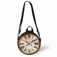 FORUDESIGNS Women Clock Bag Casual Round For Teen Girls Music Notes Print Shoulder Pouch Circle Crossbody Pack Shopper Purse