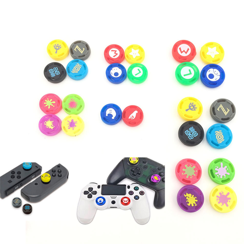 For Switch Joy Con Thumb Stick Grip Caps For Switch Pro Controller Joystick Cap Analog Stick Button For PS4 XBOX360