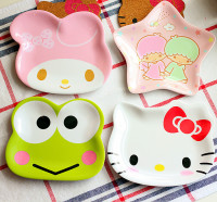 Cartoon creative tableware plastic fruit snacks dish dishes a very creative and lovely shape small plates