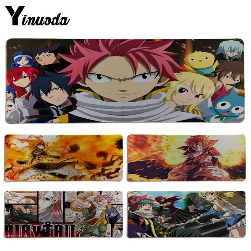 Yinuoda Japanese anime Fairy Tail mouse pad gamer play mats Size for 30x90CM Speed Version Gaming Mousepads
