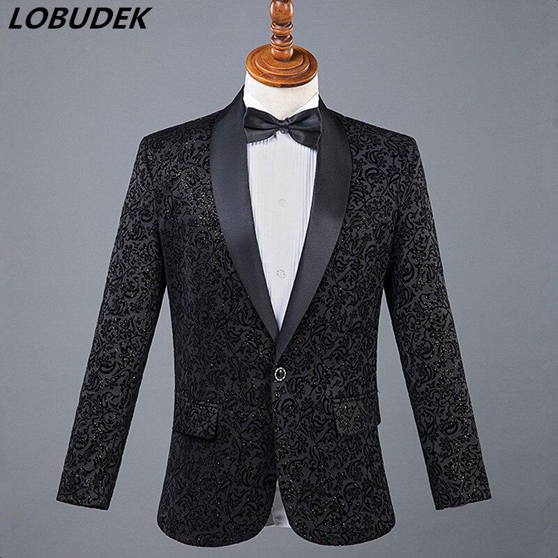 100% Kwaliteit (jas + Broek) Suits Rood Wit Blauw Bruiloft Bruidegom Kostuum Mannelijke Formele Kleding Gastheer Ster Chorus Prestaties Slanke Pakken