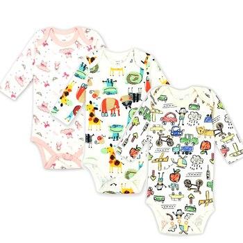 3 unids lote Body de bebé recién nacido de algodón Body de dibujos animados  ropa interior de manga larga para niñas pequeñas conjuntos de bebé 100%  algodón caf49a79810b