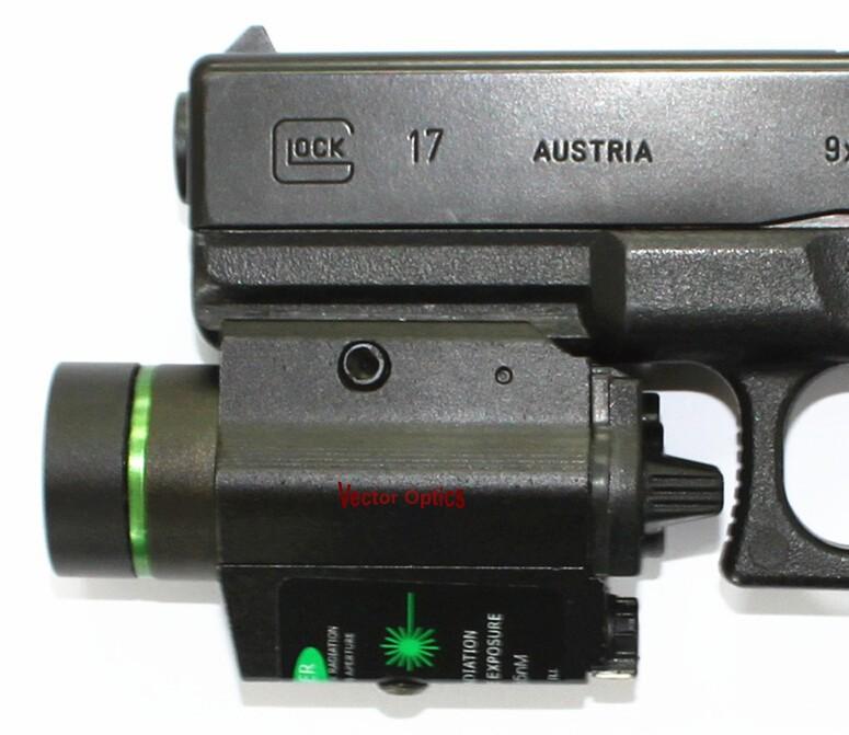 VO Pistol Green Laser Flashlight Acom 4