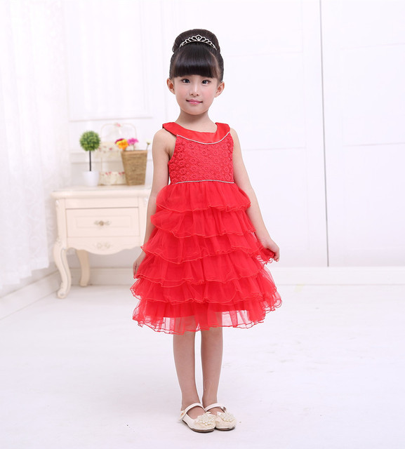 bd35c4ee7661e The little girl in red dress kids cake princess tutu dress children casual  evening dress vestidos sexy