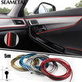 5M Car Styling Thread Interior Decorative Stickers Brands Plating Decals Trims 3D Strips Stickers on Car Accessories car-styling