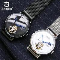 Bestdon Switzerland Tourbillon Moonphase Men Automatic Mechanical Watch Relogios Masculino Waterproof Sport Watch with Gift Box