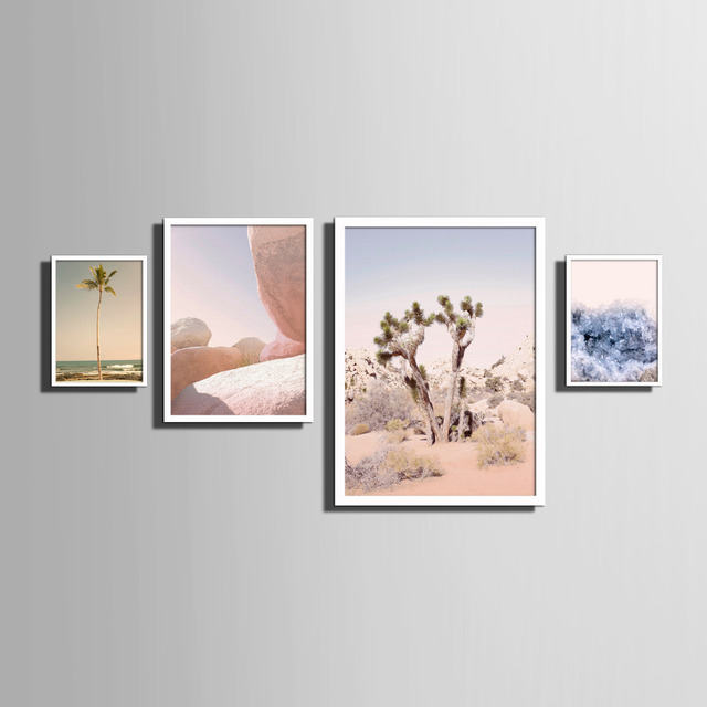 Nordic style Art Print Framed Canvas Painting Art Scenery Series ...