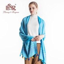 Thương Hiệu sang trọng Phụ Nữ Bông Khăn Stripped Mềm Vintage Chiếc Khăn Tua Stole Winter Khăn Choàng Nữ Pashmina Bandana Lụa Mong Cachecol