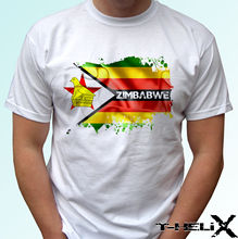 Zimbabwe Flag - white t shirt Africa country top design - mens womens kids baby New T Shirts Funny Tops Tee New Unisex Funny