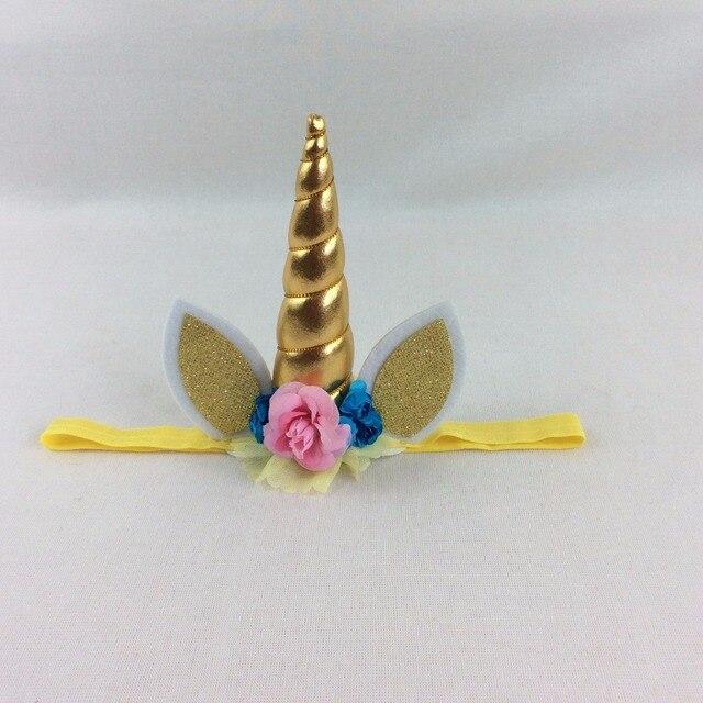2 unids toddle unicornio flores diadema cumpleaños Encaje corona del ...