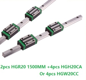 2 uds carril lineal HGR20-L 1500mm + 4 Uds HGH20CA/hmw20cc bloque lineal