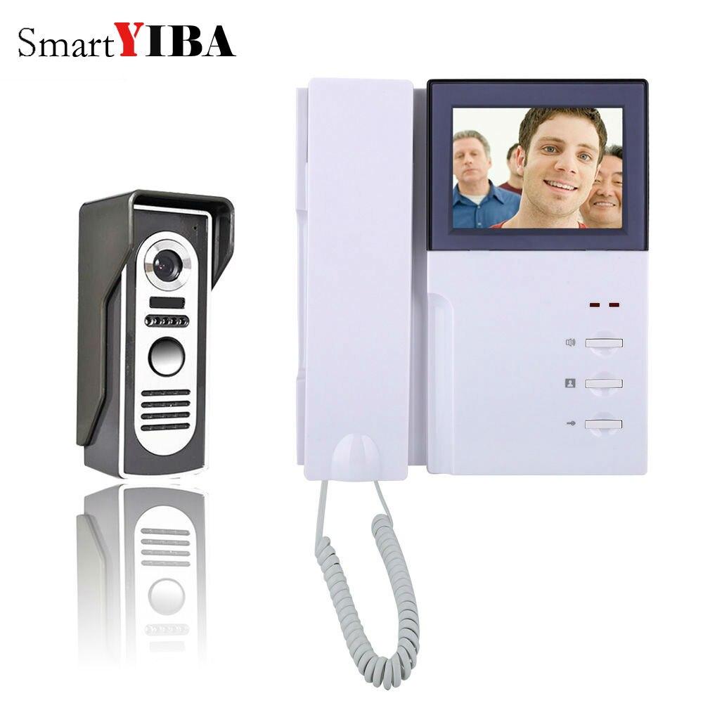 SmartYIBA 4 Inch Video Door Phone Doorbell Intercom Kit 1-camera 1-monitor Night Vision IR camera topshop джинсовая юбка