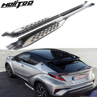 new arrival side step side bar pedals running board for toyota CHR c hr 2017 2018+,powerful loading,old seller,quality guarantee