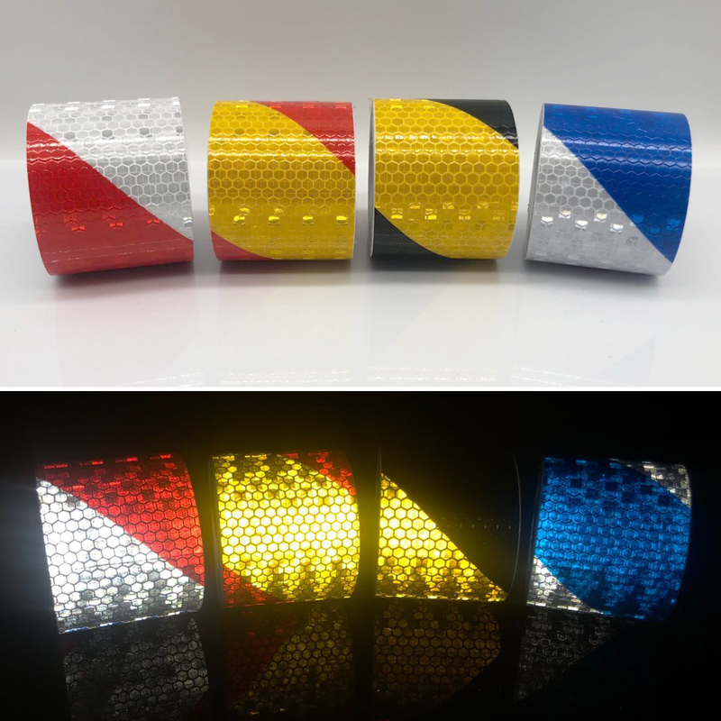 5cm Width Reflective Bicycle Stickers Adhesive Tape For Bike Safety White Red Yellow Blue Bike Stickers Bicycle Accessories