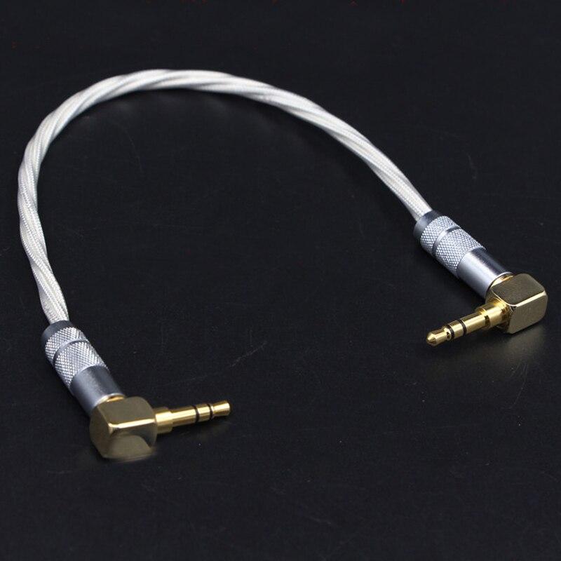 HIFI AUX кабель 3,5 мм штекер в штекер стерео кабель AUX 3,5 угловой разъем в гнездо адаптер для наушников усилитель аудио кабель