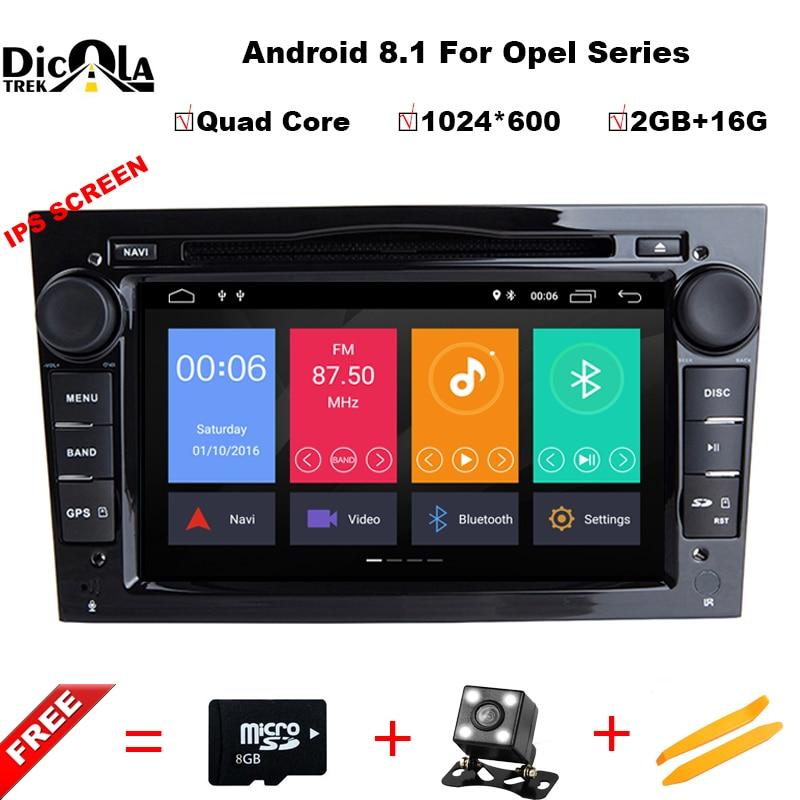 Ips HD Android 8,1 4 ядра 2 din dvd-плеер автомобиля для Opel Corsa Vectra C D Meriva Vivaro Tigra Signum радио gps Navi 4G WI-FI