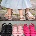 Mini melissa sandalias italia roma sandalias de las muchachas niños sandalias zapatos de la jalea de melissa zapatos antideslizantes inferiores suaves de verano desgaste