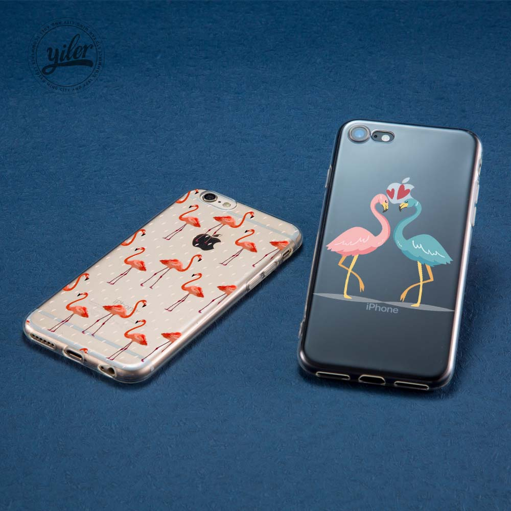 Coque Fashion Flamingo Texture Case for iPhone 6S Plus case for iPhone XR Cases for iPhone 7 Plus Case for iPhone 5 5S SE 6 7 XS in Half wrapped Cases from Cellphones Telecommunications