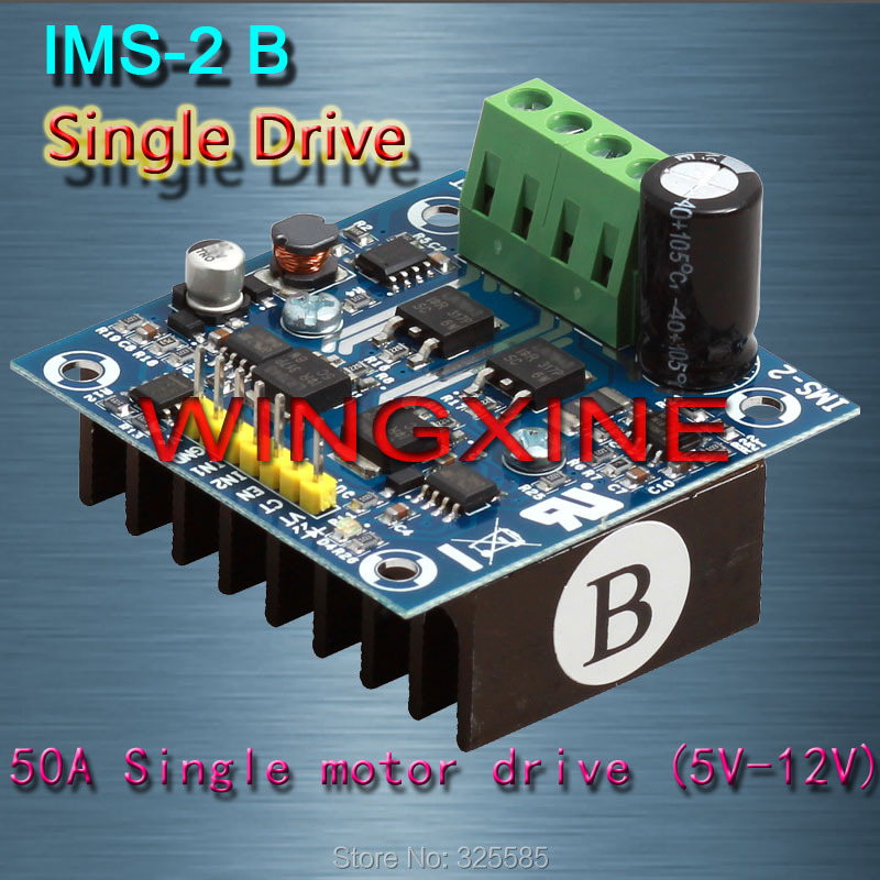 Free shipping IMS 2B 50A 3V 15V Single H Bridge Motor Driver Module PID for Smart