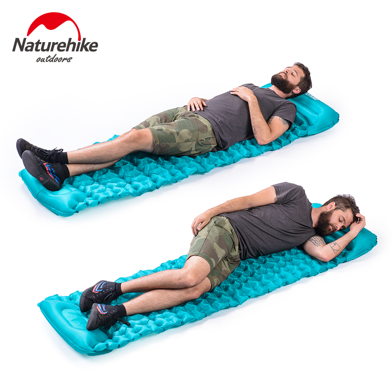 Naturehike outdoor inflatable camping mat sleeping pad colchon inflable tent bed air mattress durable thicken pvc car travel inflatable bed automotive air mattress camping mat with air pump