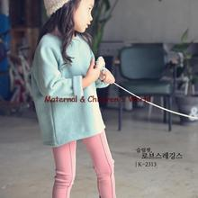 High Quality Children Thick Velvet Leggings Korean Style Baby Girl Cashmere Warm Slim Fits Pink Pants Bottoming Retail