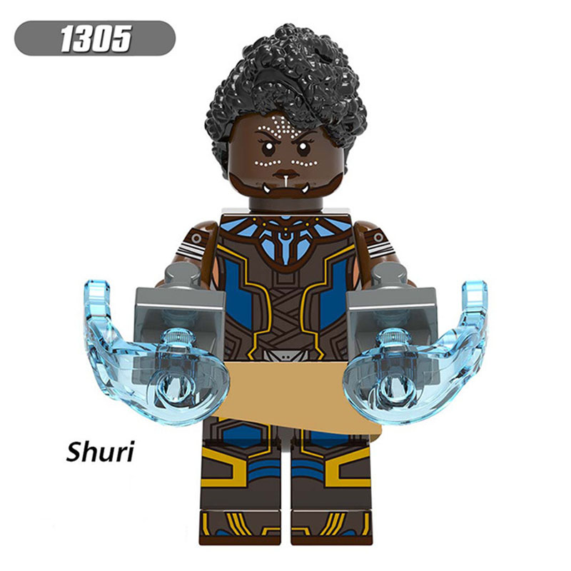 Single Sale Compatible LegoINGlys Super Heroes Bricks Figures Shuri Falcon Pepper Building Blocks Learning Toy Gift For Children