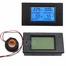 New AC 80 260V LCD Digital 100A Volt Watt Power Meter Ammeter Voltmeter Whosale&Dropship