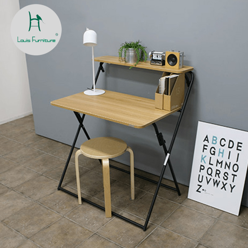 Us 56 9 Louis Fashion Computer Desks Small Folding Portable Mini Table Simple Home Writing Provincial Space In Computer Desks From Furniture On