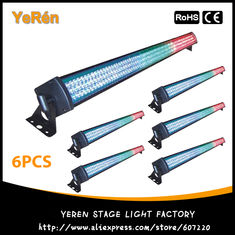 (6PCS) LED Light Bar Led Flood Light 252Pcs RGB Color LED Wall Washer DMX Free Shipping 36w led wall washer ac85 265v warm white rgb color free shipping