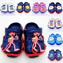 Модная пляжная обувь для мальчиков и девочек с рисунком маргаритки/Дональда Дака солнца и облака тигра EVA Сабо