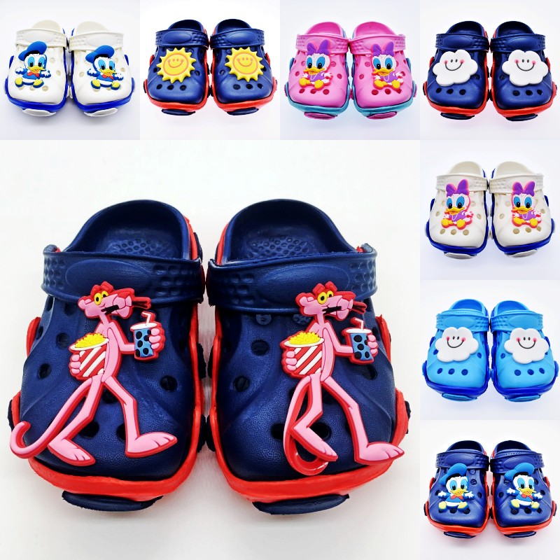 Kids Boys And Girls Fashion Cartoon Daisy/Donald Duck Sun & Cloud Tiger EVA Beach Clogs Beach Shoes
