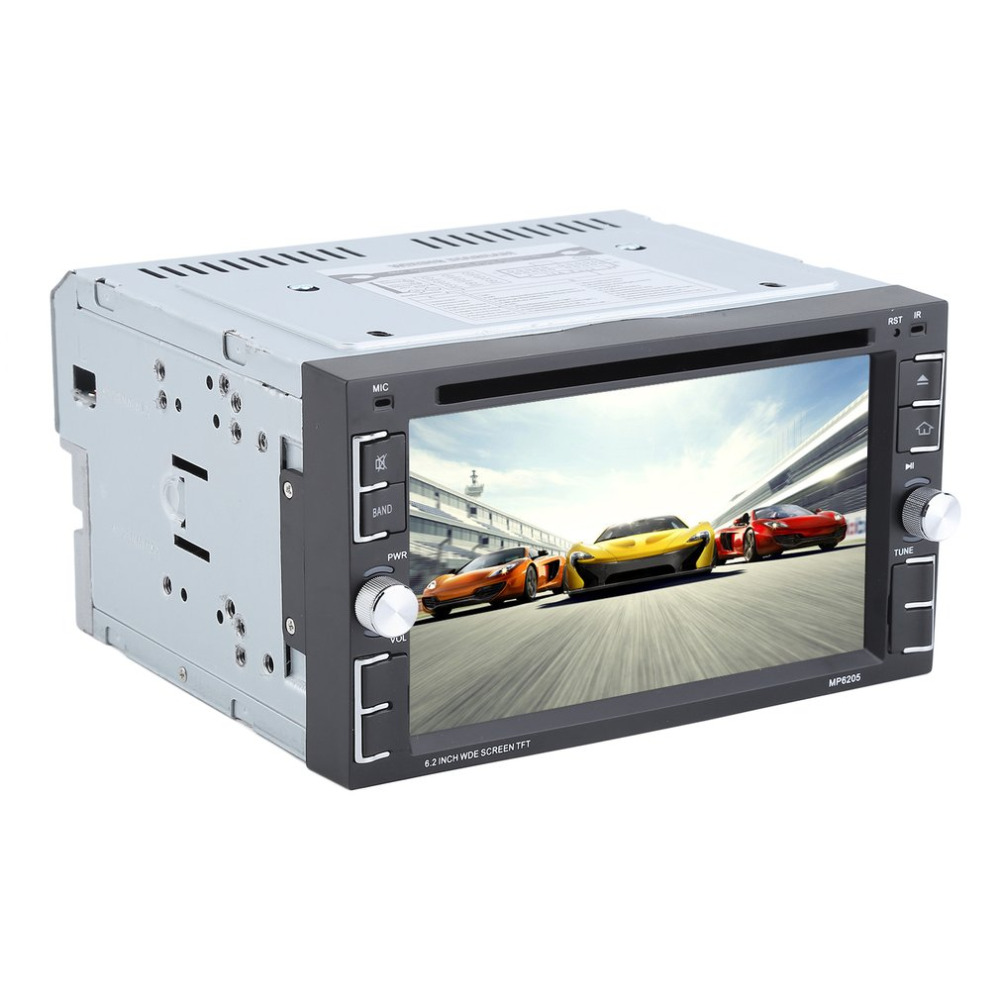 Hot Sale 6.2 Inch Car Radio DVD CD MP3 Player Double Din Bluetooth Car Stereo Music Player 6205 EU Plug Car Accessories