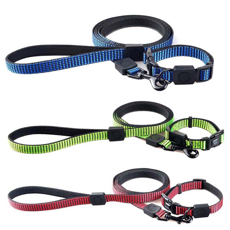 Nylon Reflective Cat Dog Training Walking Leash Strap Harness Lead Pet Collar + Traction Rope Set Hot Sale