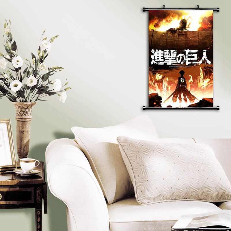 בית תפאורה התקפה על טיטאן Shingeki לא Kyojin קוספליי קיר גלילה 2019