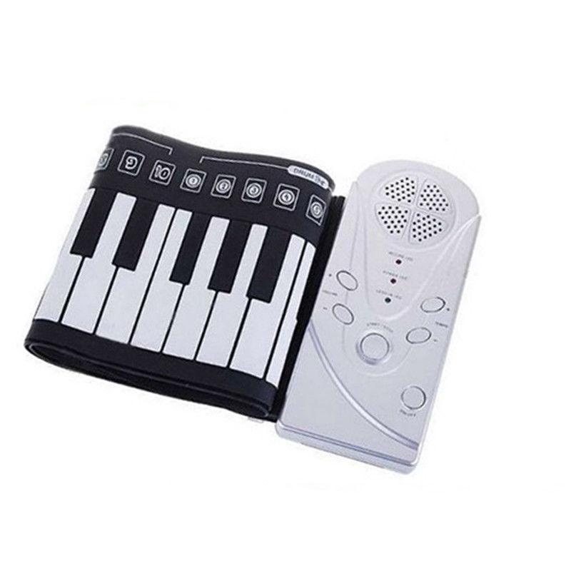 Portable retrousser 49 touches clavier numérique électronique souple Piano Instrument de musique