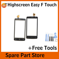 Angcoucoux 100 Tested For Highscreen Easy F Touch ScreenFront Glass Lens Panel Sensor Digitizer Replacement Parts