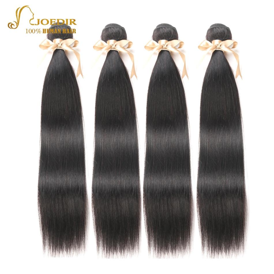 Joedir Hair Burmese Human Hair Bundles with Closure Straight Hair Bundles with Frontal 3 pcs Human Hair Extensions Pre plucked
