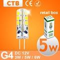 G4 LED Light DC 12V 3W 5W 6W LED Light SMD 3014 Silicone Corn Lamps Crystal Chandelier Lights Home Decoration Lighting